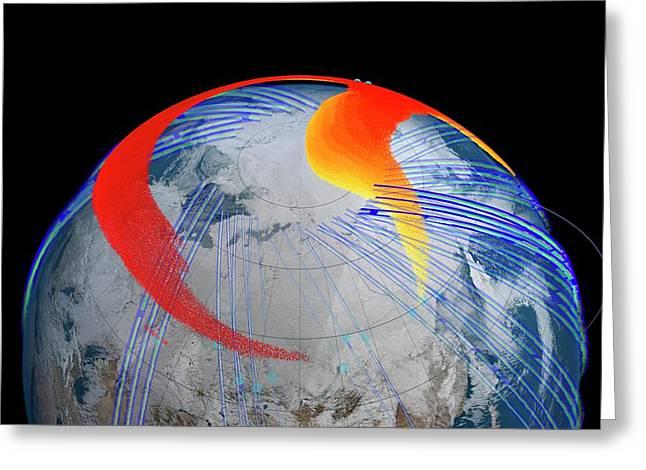 Chelyabinsk Meteor Explosion Greeting Card by Nasa's Goddard Space Flight Center