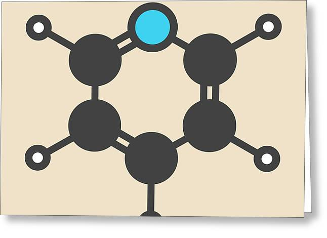 Chemical Solvent And Reagent Molecule Greeting Card
