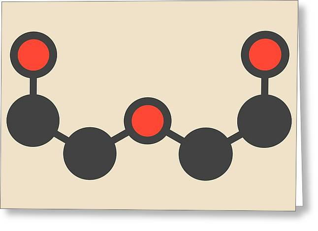 Chemical Solvent Molecule Greeting Card by Molekuul