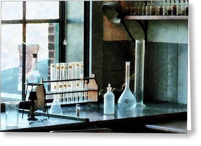 Chemist - Glassware In Lab Greeting Card