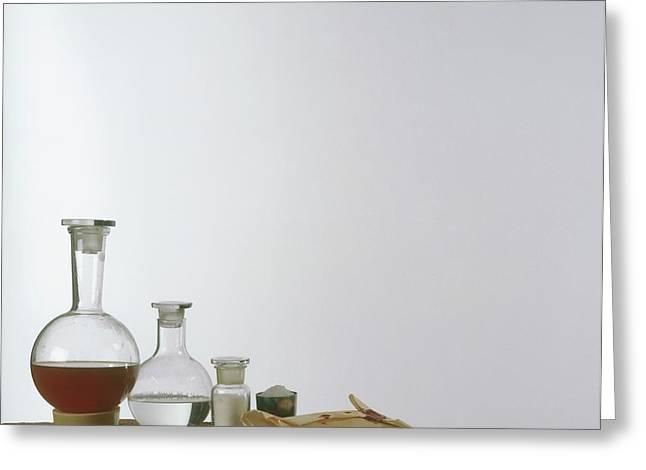 Chemistry Equipment Greeting Card