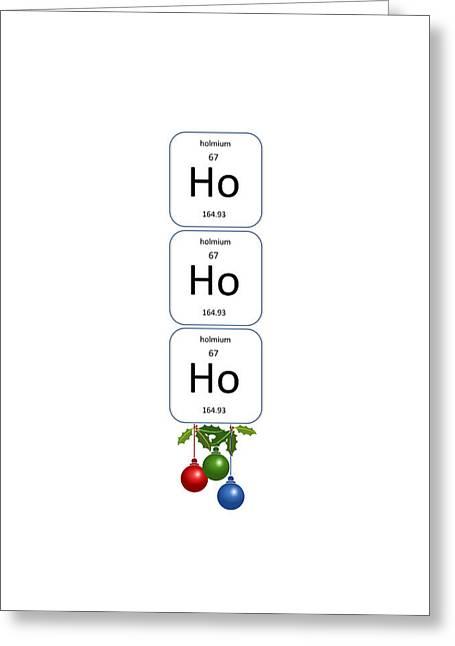 Chemistry - Ho Ho Ho Bell Pull Greeting Card