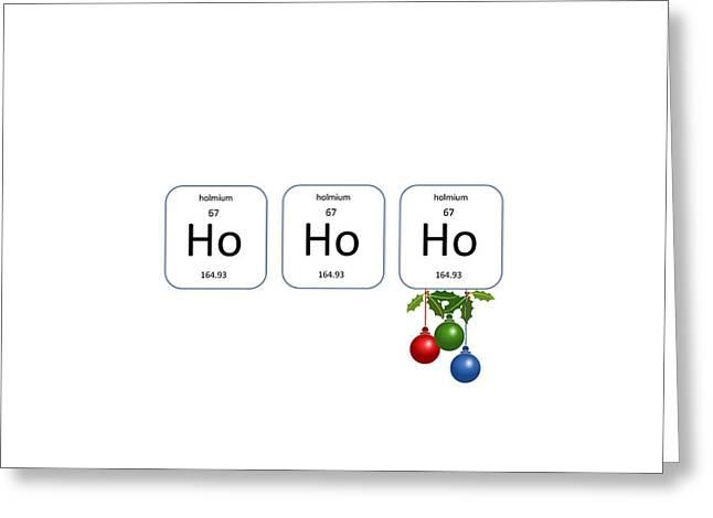 Chemistry - Ho Ho Ho Holly Greeting Card