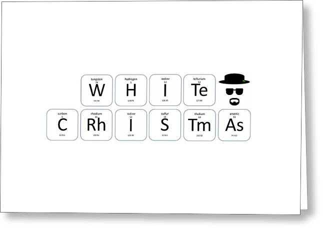 Chemistry - White Christmas Greeting Card