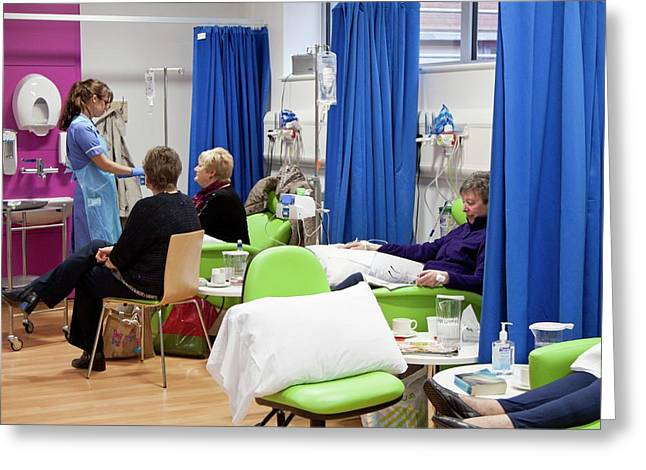 Chemotherapy Ward Greeting Card by Life In View