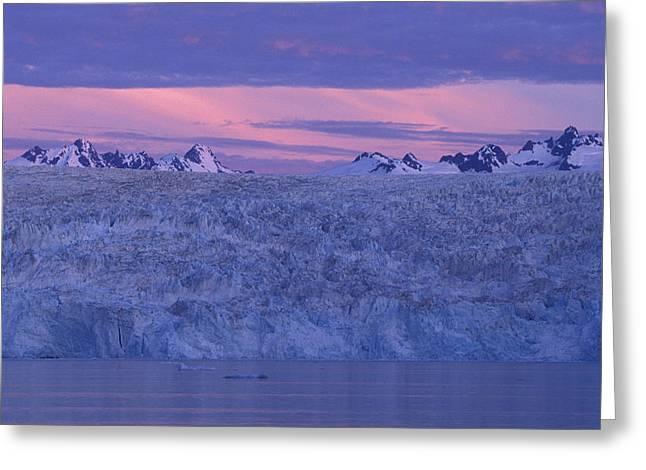 Chenega Glacier At Sunrise Greeting Card by Tim Grams