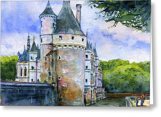 Chenonceau Castle France Greeting Card