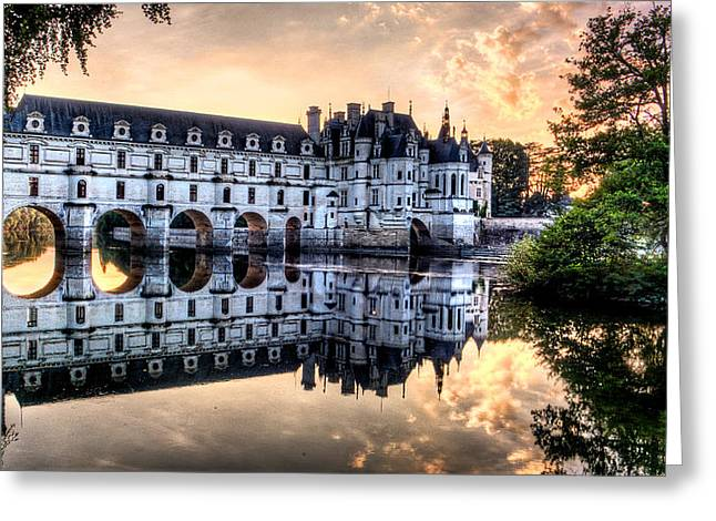 Chenonceau Sunset Greeting Card