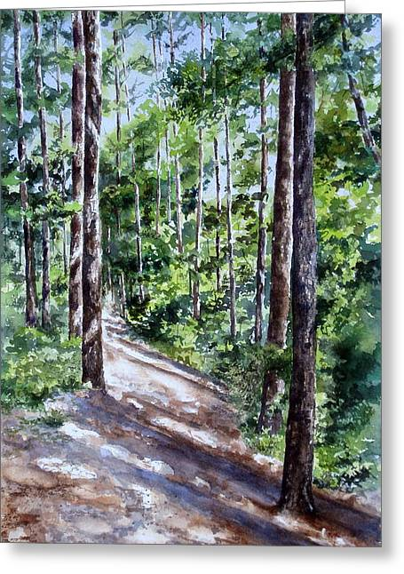 Greeting Card featuring the painting Cheraw Trail by Mary McCullah