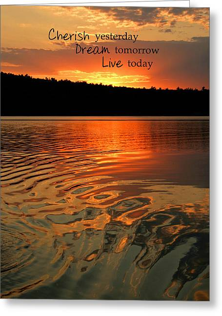 Cherish Dream Live Greeting Card