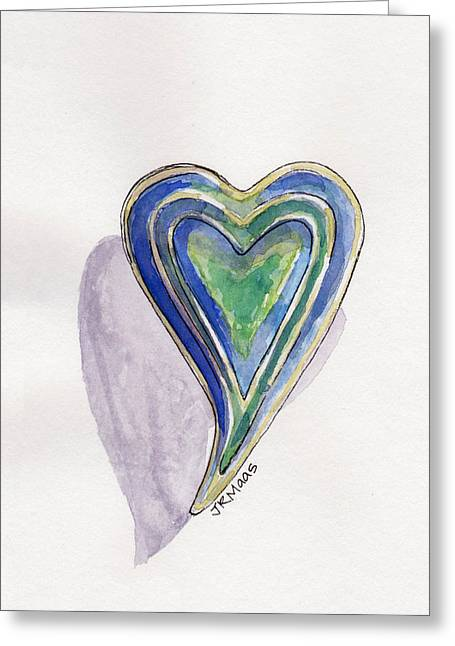 Greeting Card featuring the painting Cherished Heart by Julie Maas