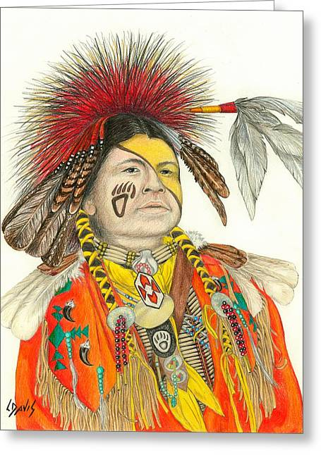 Cherokee In Orange Greeting Card