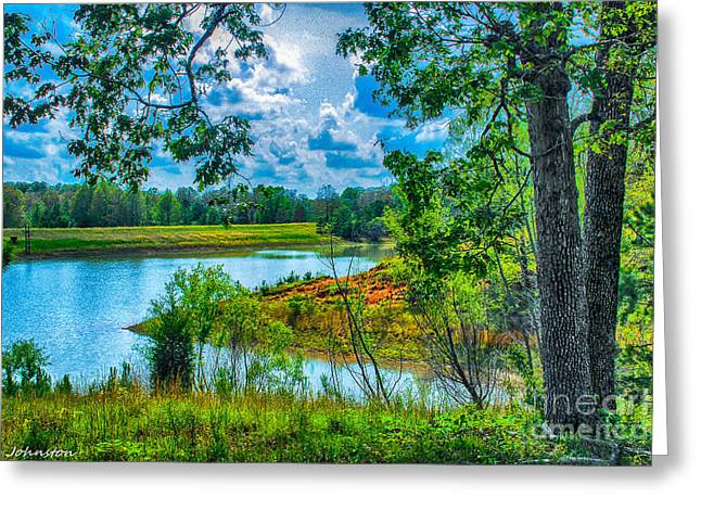 Cherokee Lake Tennessee  Greeting Card by Bob and Nadine Johnston