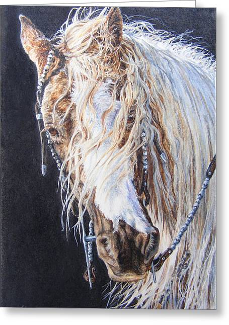 Cherokee Rose Gypsy Horse Greeting Card