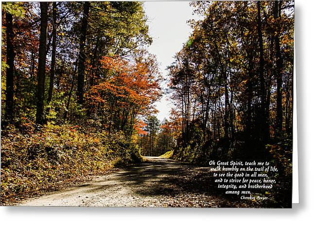 Cherokee Trail Greeting Card