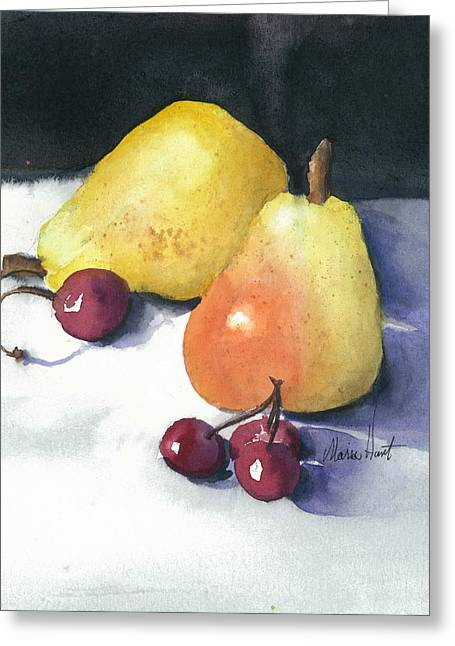 Cherries And Pears Greeting Card