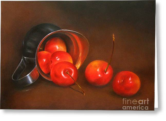 Cherries And Silver Greeting Card