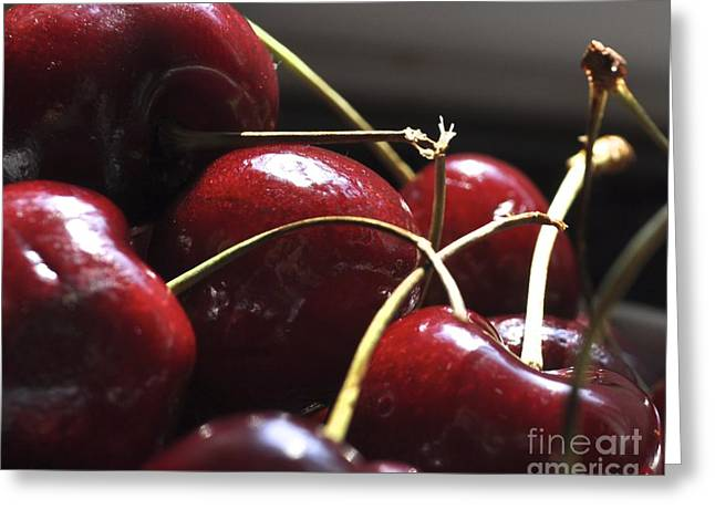 Cherries Close Up Greeting Card