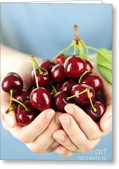 Cherries Greeting Card by Elena Elisseeva