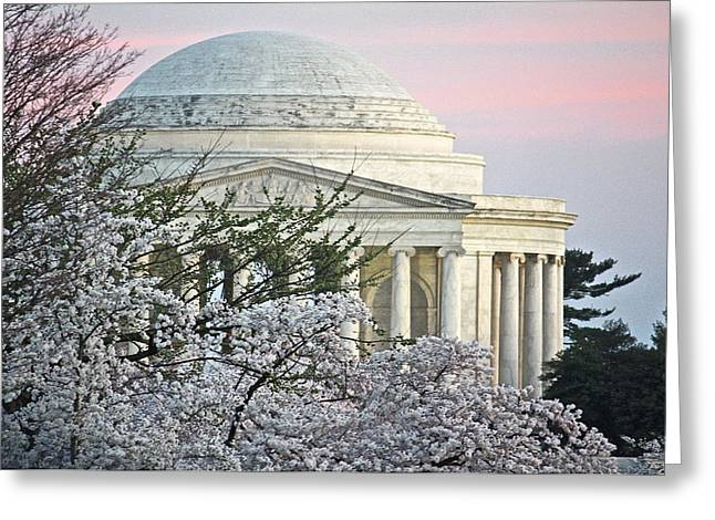 Cherry Blossom Sunset Greeting Card