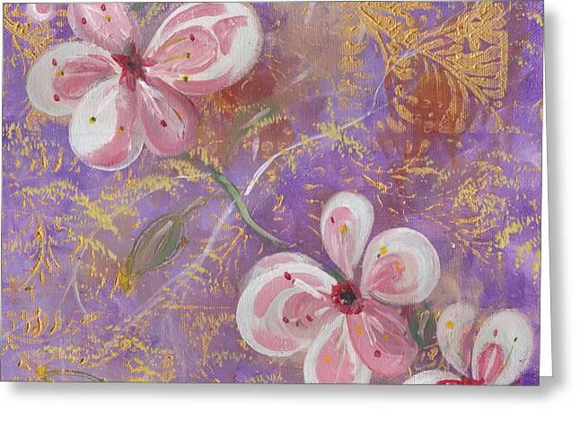 Cherry Blossoms Greeting Card by John Keaton