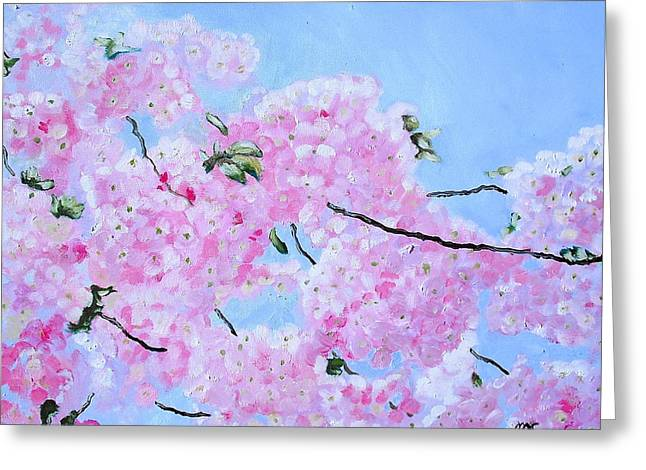 Cherry Blossoms Greeting Card by Melissa Torres