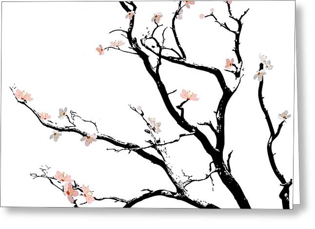 Cherry Blossoms Tree Greeting Card