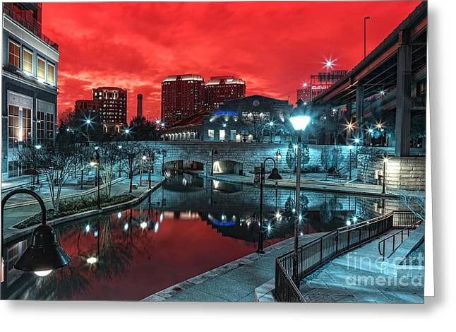 Cherry Canal Greeting Card