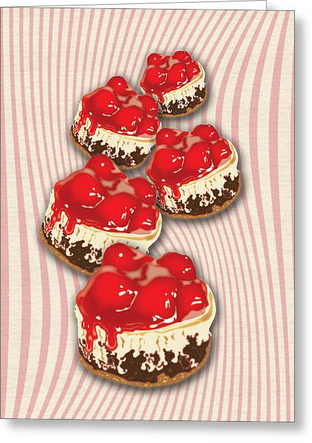 Cherry Cheesecake Greeting Card