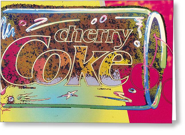 Cherry Coke 5 Greeting Card by John Keaton