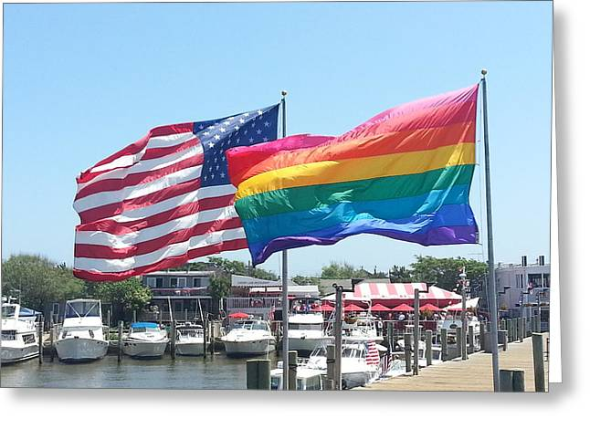 Cherry Grove Fire Island Greeting Card by French Toast