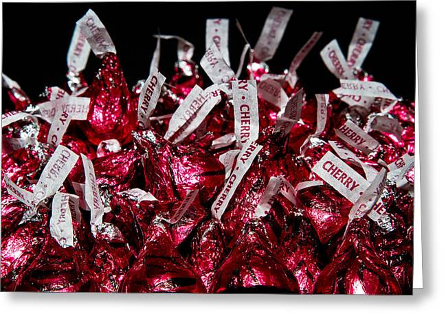Greeting Card featuring the photograph Cherry Kisses by John Hoey