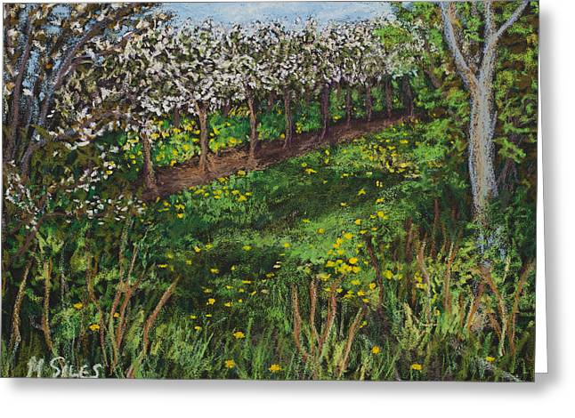 Cherry Orchard Evening Greeting Card