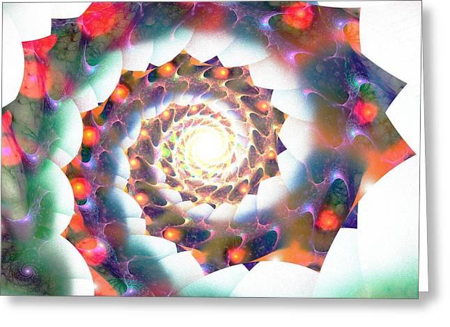 Cherry Swirl Greeting Card by Anastasiya Malakhova