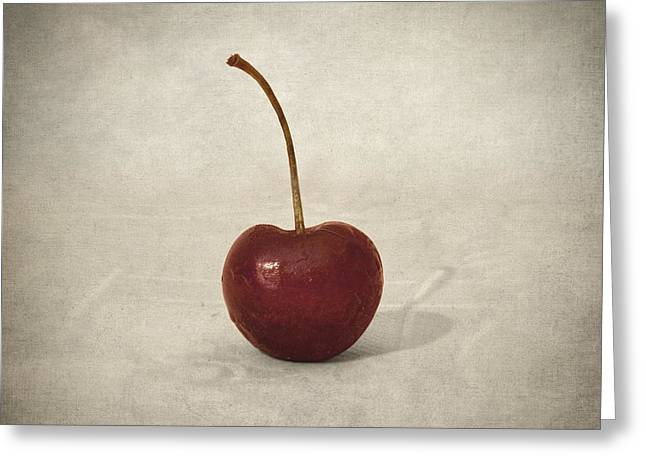 Cherry Greeting Card by Taylan Apukovska