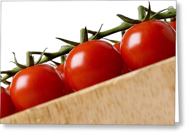 Cherry Tomatoes Greeting Card by Nicole Neuefeind
