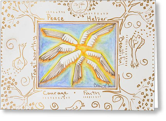 Cherubim Greeting Card by Cassie Sears