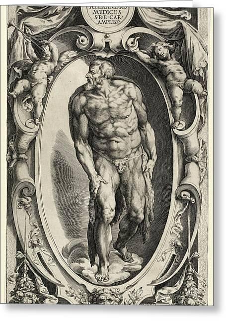 Cherubino Alberti After Michelangelo, Saint John The Baptist Greeting Card by Quint Lox