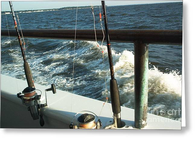Greeting Card featuring the photograph Chesapeake Bay Fishing by Emmy Marie Vickers
