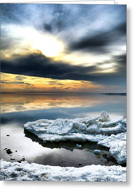Chesapeake Bay Winter Greeting Card by Olivier Le Queinec