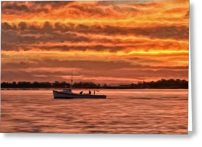 Chesapeake Watermen Greeting Card by Michael Pickett
