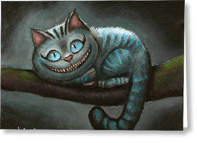Cheshire Cat Greeting Card by Eusebio Guerra