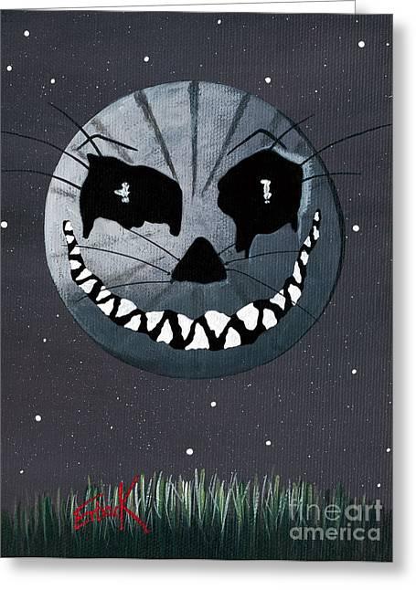 Alice In Wonderland Artwork - Cheshire Moon Greeting Card