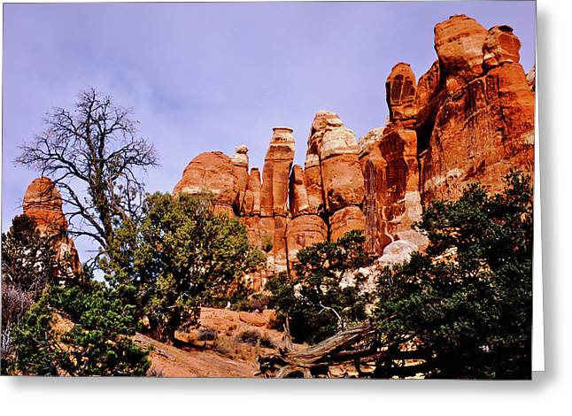 Chesler Park Pinnacles Greeting Card by Ed  Riche