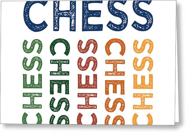 Chess Cute Colorful Greeting Card