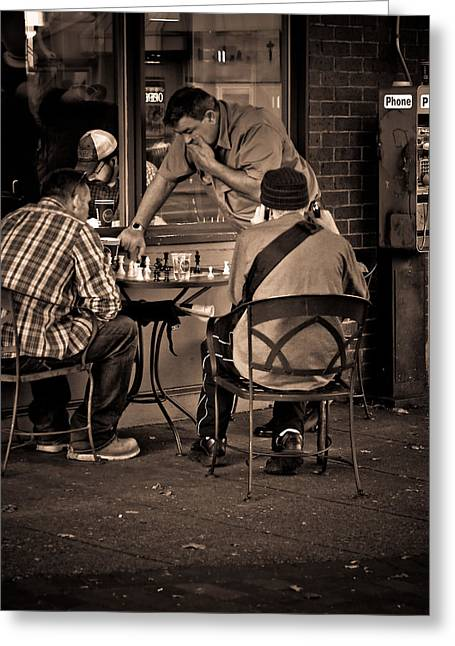 Greeting Card featuring the photograph Chess Game by Erin Kohlenberg