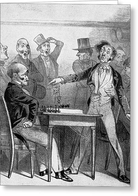 Chess Match, 1843 Greeting Card