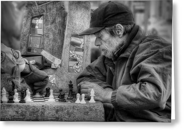 Chess On The Mall Greeting Card