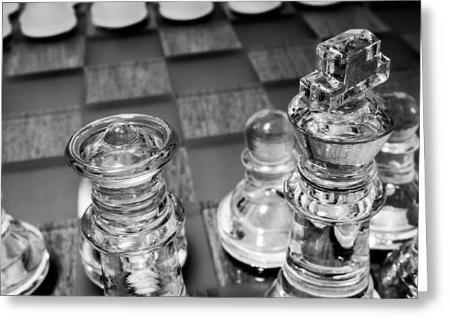 Chess Pieces 3 Greeting Card