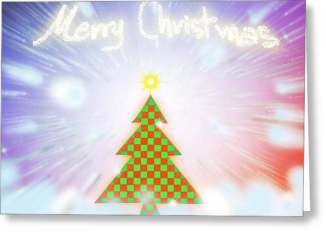 Chess Style Christmas Tree Greeting Card